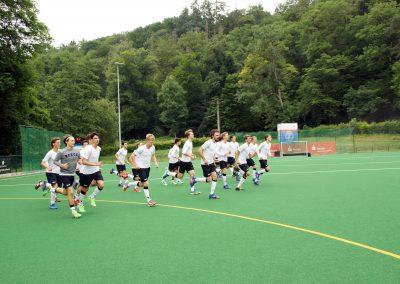 Deutschlands U21-Hockeynationalmannschaft auf dem Rosi-Blöcher-Platz des WTHC