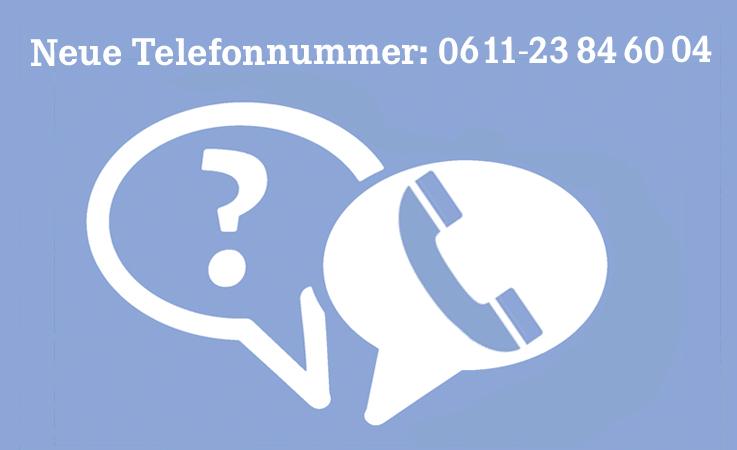 Neue Telefonnummer: 0611-23846004
