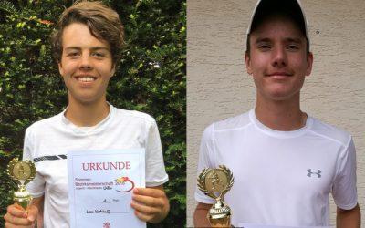 WTHC-Tennisjugend erfolgreich bei den Bezirksmeisterschaften