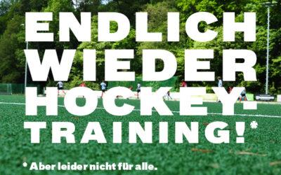 Hockeytraining kann für jüngere Mannschaften wieder stattfinden!
